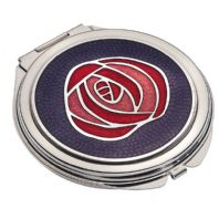 Rennie Mackintosh Single Rose Compact Mirror